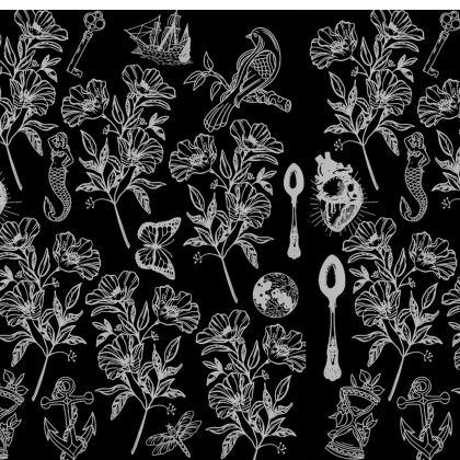 The Journey - Black Evening Kimono