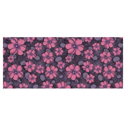 Small cup and saucer - Purple Flower Burst