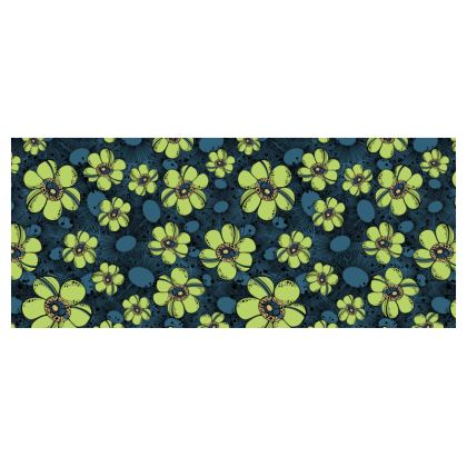 Small cup and saucer - Lime Flower Burst