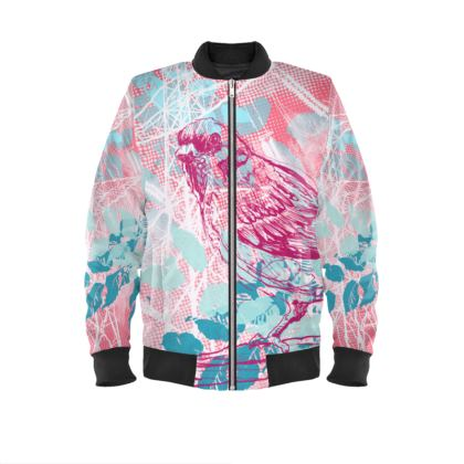 Bomber Jacket - Sparrow in Pink