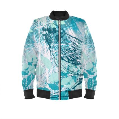 Bomber Jacket - Sparrow in Turquoise Blue