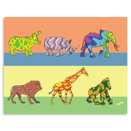 COMMIC Africa Parade - art print on metal