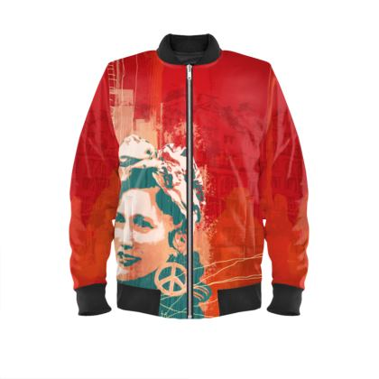 Bomber Jacket - RED WOMANS POWER