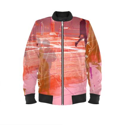 Urban Bomber Jacket in Pink and Orange