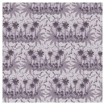 Singing Bird Collection - Plum - Luxury Cushion