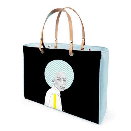Chevron Hair Leather Handbag