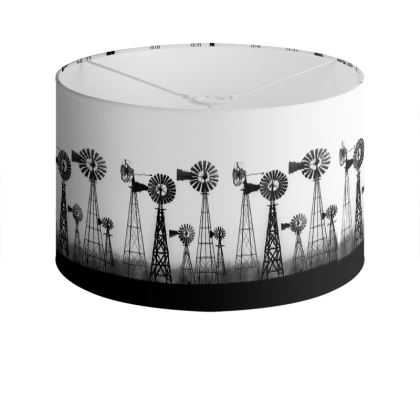 Mechanical Flowers Drum Lamp Shade