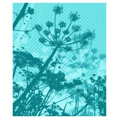 Bomber Jacket - Floral in Aqua