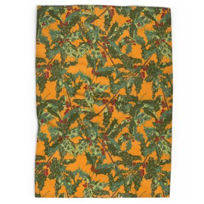 Holly (Bold Yellow) Tea Towel