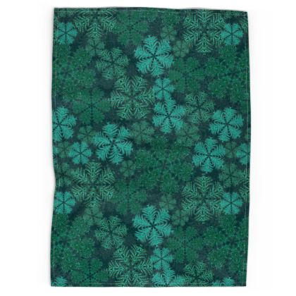 Snowflakes Tea Towel (Teal)
