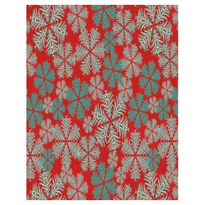 Snowflakes Tray (Red/Aqua)