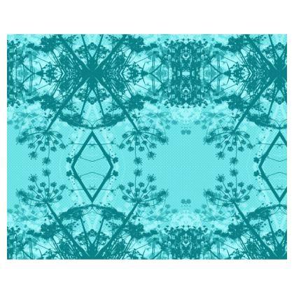 Kimono - Floral in Aqua Blue