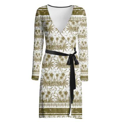 Singing Bird Collection - Sand Scarf - Luxury Wrap Dress