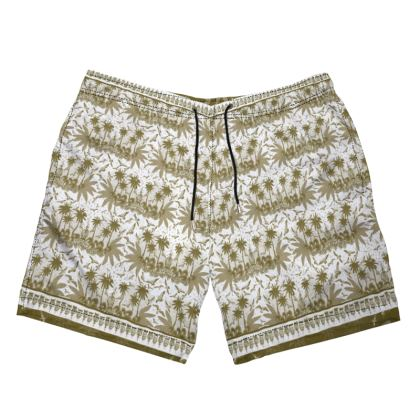 Singing Bird collection - Sand Scarf - Luxury Mens Swimming Shorts
