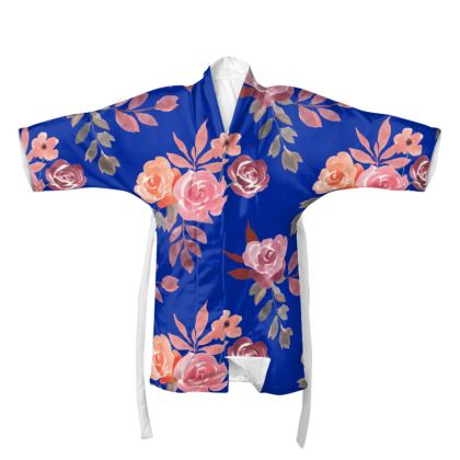 Royal Blue Floral Dream Kimono