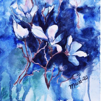 Bowl of magnolia