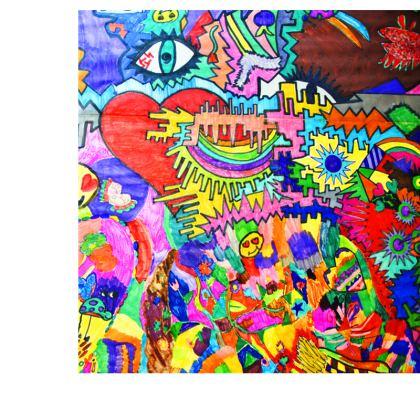 Pop Art Heart by Elisavet Slip Dress