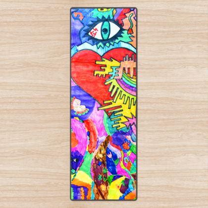 Pop Art Heart by Elisavet Yoga Mat