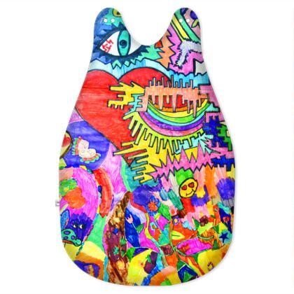 Pop Art Heart by Elisavet Baby Sleeping Bag