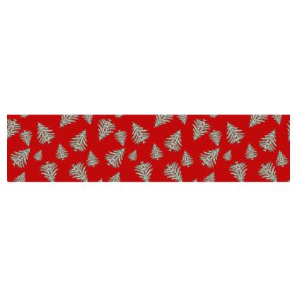 Tiny Trees (Red) Table Runner