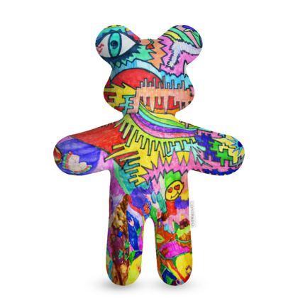 Pop Art Heart by Elisavet Teddy Bear