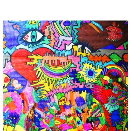 Pop Art Heart by Elisavet Occasional Chair
