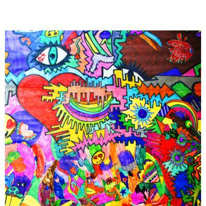 Pop Art Heart by Elisavet Travel Wallet
