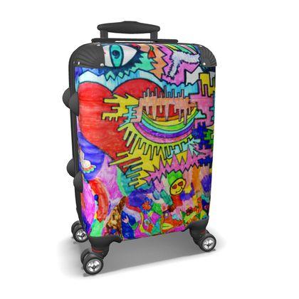 Pop Art Heart by Elisavet Suitcase