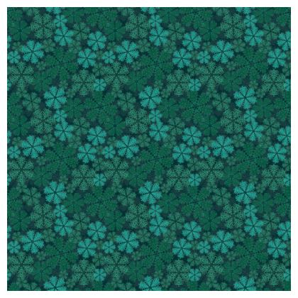 Snowflakes Tablecloth (Teal)