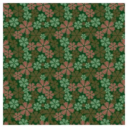 Snowflakes Tablecloth (Red/Green)