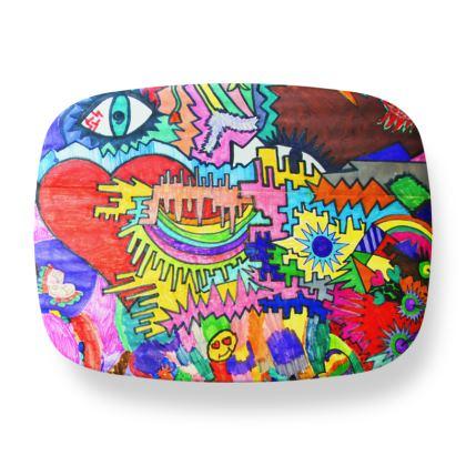 Pop Art Heart by Elisavet Lunch Box