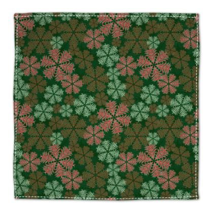 Snowflakes Napkins (Red/Green)