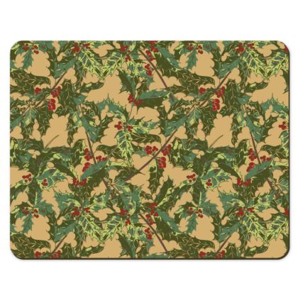 Holly Placemats (Vintage Gold)