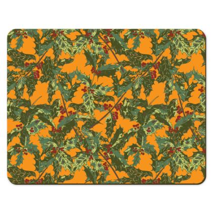 Holly Placemats (Bold Yellow)