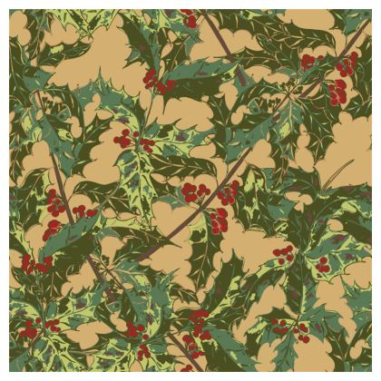 Holly Coasters (Vintage Gold)