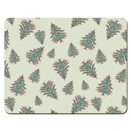 Tiny Trees Placemats (White)