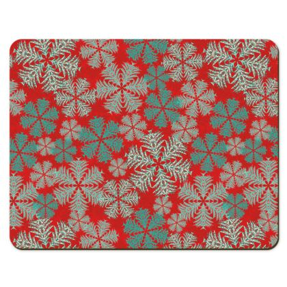 Snowflakes Placemats (Red/Aqua)