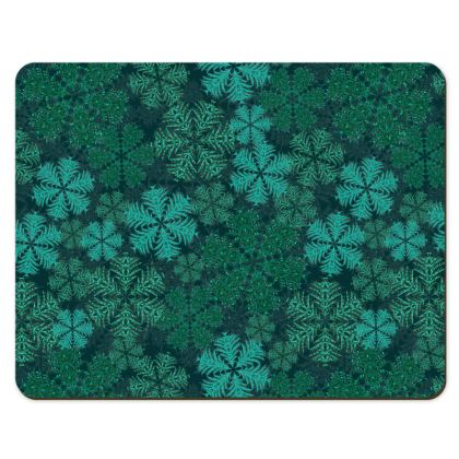 Snowflakes Placemats (Teal)