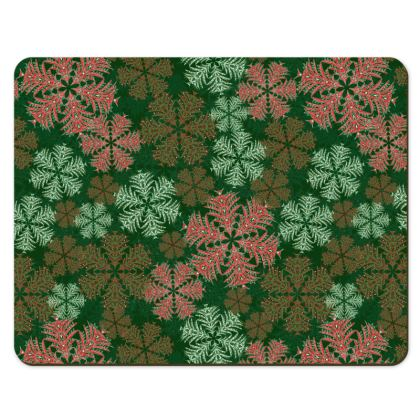 Snowflakes Placemats (Red/Green)