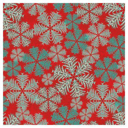 Snowflakes Coasters (Red/Aqua)