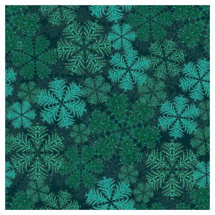 Snowflakes Coasters (Teal)