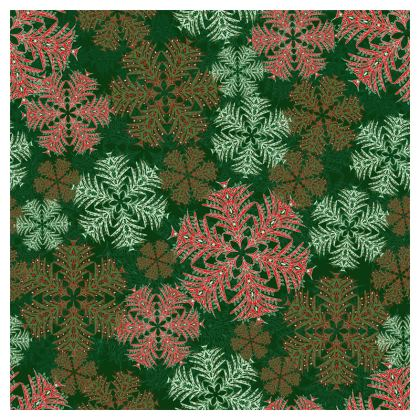 Snowflakes Coasters (Red/Green)