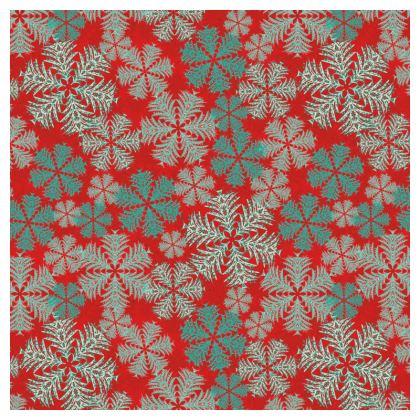 Snowflakes Serving Platter (Red/Aqua)