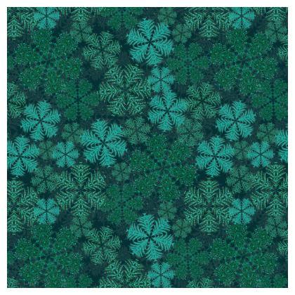 Snowflakes Serving Platter (Teal)