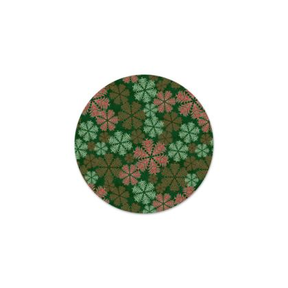 Snowflakes Serving Platter (Red/Green)
