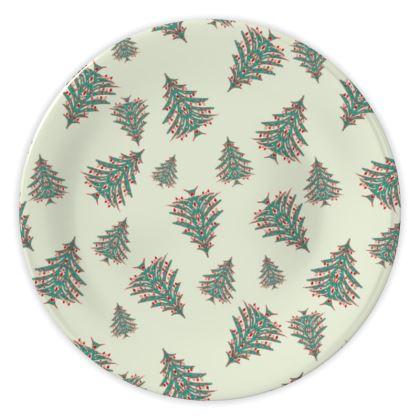 Tiny Trees China Plate (White)