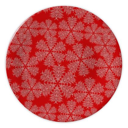 Red Festive China Plate