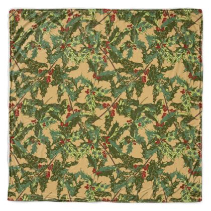 Holly Throw Blanket (Vintage Gold)
