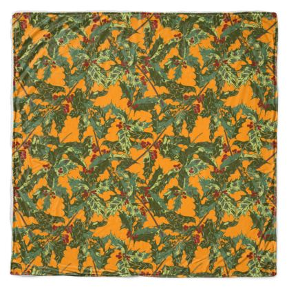 Holly Throw Blanket (Bold Yellow)
