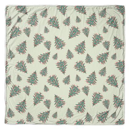 Tiny Trees Throw Blanket (White)